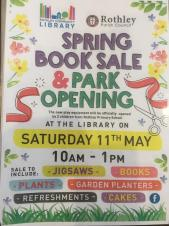 Book Sale and Park Opening